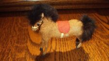 VINTAGE KUNSTLERSCHUTZ HANDWORK FLOCKED HORSE-WEST GERMANY