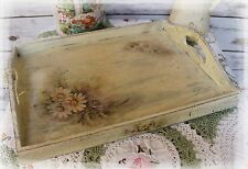 "~ Vintage ~ Woodeen ~ Serving ~ Tray ~  Shabby Chic ~ ""Summer Bouquet"" ~"