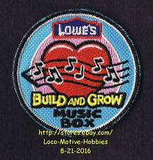 LMH PATCH Badge  MUSIC BOX Sound Hear Love Soul LOWES Build Grow Project Series