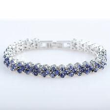 6.5inch Round Stone Swarovski Crystal Elements Tennis Bracelet