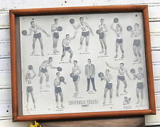 Coffeyville Community College Basketball Team Photo 1957 Collectible