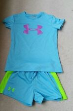 Girls youth small Under Armour shorts and tee set