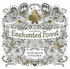 Enchanted Forest An Inky Quest Adult Coloring Book -Stress Relief Free Shipping