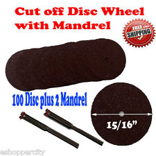 100+2 Cut Off Wheels Disc  409 Rotary Power Tool 15/16 For  Skil Craftsman 402