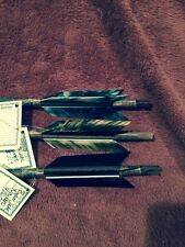 3 Handmade Navajo Arrows w/different/ feathers & Stone chip Arrowheads!!