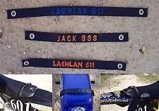 25mm WIDE CUSTOM EMBROIDED SEAT LIFT STRAP,KTM 50,KTM 65,PW50,HONDA,SUZUKI,YAMAH