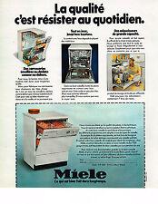 PUBLICITE ADVERTISING 054  1978  MIELE  résister au quatidien lave vaisselle
