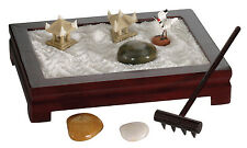 "4""x3"" Mini Zen Garden Office and Home Desk Décor for Meditation and Relaxation"