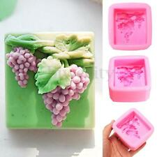 Grape Shape Silicone Soap Craft Molds DIY Handmade Baking Cake Soap Candy Mould