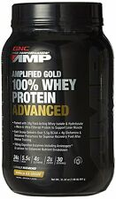 GNC Pro Performance AMP Amplified Gold 100 Percent Whey Protein Advanced Powder,