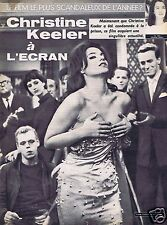 Coupure de presse Clipping 1963 Christine Keeler  (3 pages)