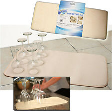 MICROFIBRE KITCHEN DRYING DISH DRAINER SINK MAT TEA TOWEL ABSORBENT WASHING UP