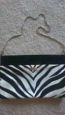Kate Spade New York Zebra Patent Leather Clutch Shoulder Bag