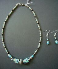 African Trade Beads Necklace Earrings Jewellery Set - Designer Ethical Gift