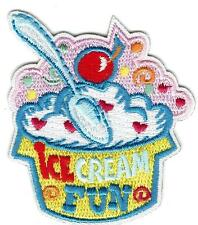 Girl Boy Cub ICE CREAM SUNDAE Treats Party Fun Patches Crests Badges SCOUT GUIDE