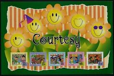 Singapore stamps - 1996 adhesive Courtesy Miniature Sheet  MNH children, flowers