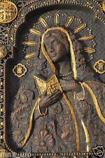 """VIRGIN MARY ICON Wooden Carved Religious orthodox GIFT 6""""x 7"""" FREE ENGRAVING"""