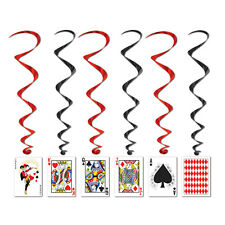 Casino PLAYING CARD Hanging WHIRLS Party Decorations POKER Alice in Wonderland