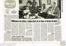 Coupure de presse Clipping 1982 (2 pages) Frederic Dard