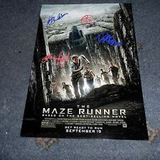 "THE MAZE RUNNER PP SIGNED 12""X8"" A4 PHOTO POSTER DYLAN O'BRIEN KAYA SCODELARIO"