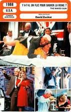 FICHE CINEMA : Y A-T-IL UN FLIC POUR SAUVER LA REINE ? Nielsen,Zucker 1988
