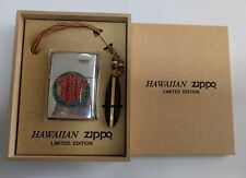 Zippo Hawaii Limited Edition Super Rare Japan Promo Wood Box Red Aloha Shirt