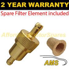 """Oro de 1/4 """" & Repuesto elemento universal de metal en línea de Filtro De Combustible Aluminio Anodizado"""