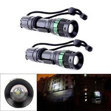 2 piezas 3000 Lumen Con Zoom CREE XM-L Q5 linterna flash LED Zoom Lámpara YC