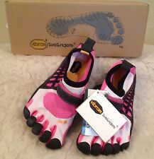 NWT VIBRAM FIVEFINGERS KSO Kids BAREFOOT RUNNING Shoes PINK Girls 31 Sz 13.5 - 1