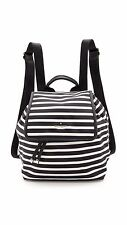 New!! KATE SPADE MOLLY backpack black and clotted cream stripes PXRU5475