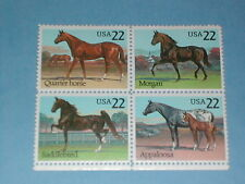 Set of 22 cent Horse Stamps (SC 2155-58) MNH