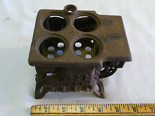 Vintage Miniature Queen Stove Range - Toy or Salesman Sample - Cast Iron