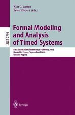 Formal Modeling and Analysis of Timed Systems: First International Wor-ExLibrary