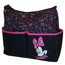 Disney Minnie Mouse Baby Girl Nappy Bottle Diaper Bag Travel School Beach Bag NW