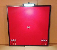 "NEW! LED Lighted 32"" x 32"" Dart Board Cabinet Backboard Wall Protector"