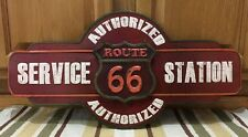 ROUTE 66 US ROAD HIGHWAY SERVICE STATION SHIELD METAL BAR WALL DECOR GARAGE 3D
