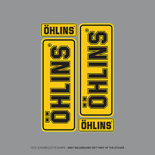 SKU2014 - Set Of 4 Ohlins Stickers - Decals - Motorcycling - Yellow & Black