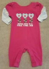 ADORABLE! OLD NAVY 0-3 MONTH PINK FLOWER OUTFIT