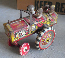 "Vintage 1950s Marx Queen of the Campus Krazy Car Windup Toy 5 1/2"" Long"