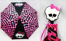 MONSTER HIGH GOTH Gothic GIRLS UMBRELLA Molded Handle Rain Snow Sun Gear NEW!