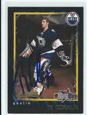 Ty Conklin Signed 2001/02 Bowman Young Stars Rookie Card #154