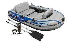 Intex Excursion 3 Boat Set + Aluminium Oars + Pump