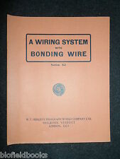 Vintage Electrical Trade Catalogue; Henley - 1927 - Wiring System/Bonding Wire
