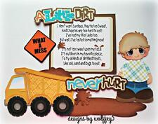 ELITE4U BOY TRUCK paper piecing premade scrapbook page album die cut WOLFFEY5