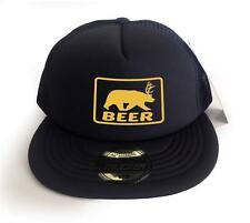 "COLOR FOAM MESH Magic TRUCKER CAP PRINTED ""BEER"" FUNNY HIP BASEBALL HAT ONE SIZE"