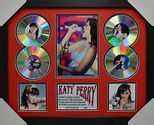 KATY PERRY SIGNED MEMORABILIA FRAMED 4 CD LIMITED EDITION RED