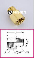 Brass Adapter Fitting Adapter 1/4 BSP Female to 3/8 BSP Male (50 pcs)