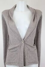 NWT $345 Autumn Cashmere Oatmeal Beige Cashmere Cardigan Sweater Size L