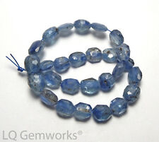 28 pcs BLUE KYANITE 7-8mm Faceted Oval Beads NATURAL /o5