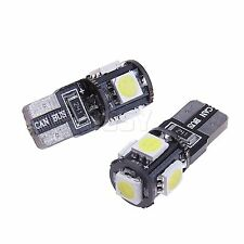 10X 12V DC 5 SMD LED T10 w5w Canbus Lampe weiß Glassockel Innenraum Beleuchtung